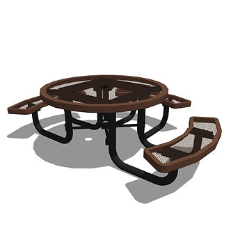 46 Children's Round Portable Table - 3 Seat
