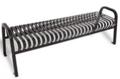 SQ3- 6' Square Tube Strap Metal Backless Bench