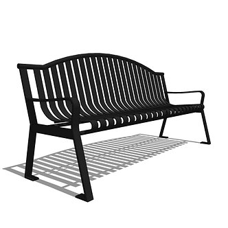 Capital Series - CS1 - 6' Strap Metal Arch Bench