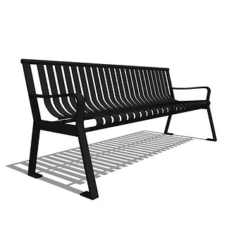 Capital Series - CS2 - 6' Strap Metal Straight Back Bench