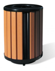 R Series Recycled Plastic Receptacle - 32 Gallon