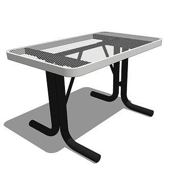 4' Portable Rectangular Portable Utility Table