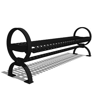 Roundcast™ - R3 -  6' Backless Strap Metal Bench