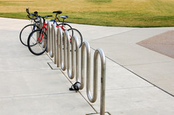 bikes and rack in campus