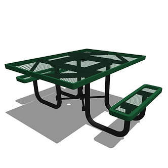 46 Square Portable Accessible Table - 2 Seat