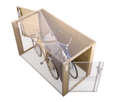 Double Sided Steel Bicycle Locker