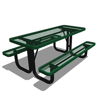 6' Rectangular Portable Picnic Table