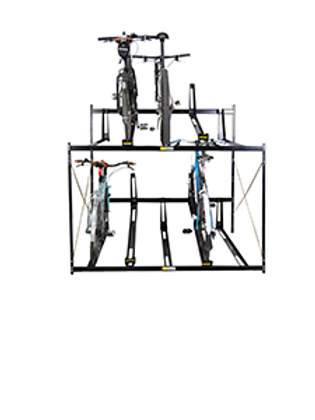 2T Double Deck Bike Rack