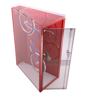 Vertical Bicycle Locker