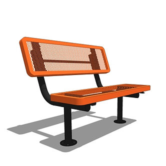 4' Player's Bench with Back