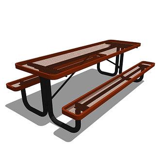 8' Rectangular Portable Picnic Table (Accessible)