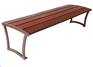M Series IPE Wood Backless Bench