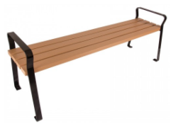 6' Plaza Recycled Backless Bench
