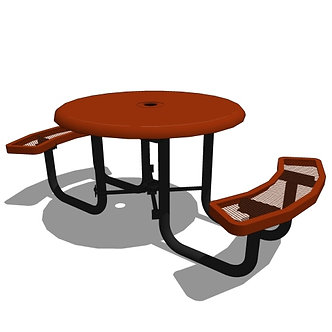 46 Round Solid Top Portable Table - 2 Seat