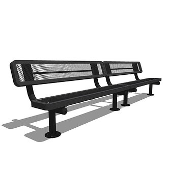 10' Children's Bench with Back (2 x 5' Sections)
