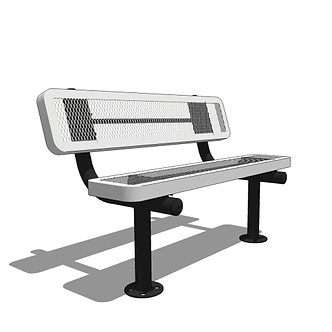 4' Bench with Back