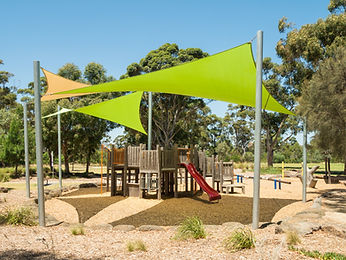 Playground and picnic facilities at Burnley Park, a public park spanning the suburbs of Richmond and