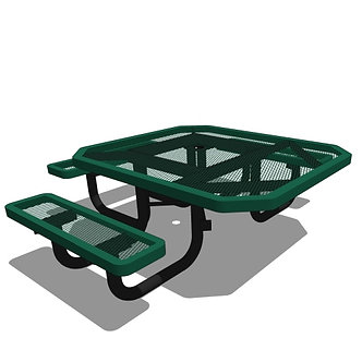 46 Children's Octagonal Portable Table - 3 Seat