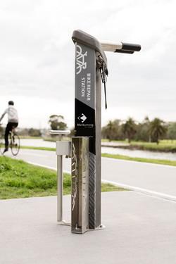 Bike Repair Pump and Chock