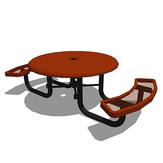46 Children's Round Solid Top Portable Table - 2 Seat