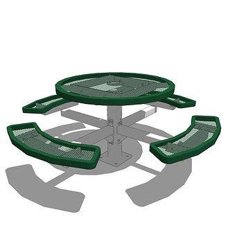 """46"""" Round Pedestal Picnic Table - In Ground or Surface Mount"""