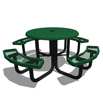 "46"" Round Portable Solid Top Picnic Table"