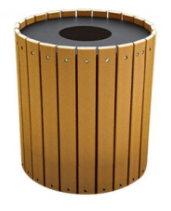 32 Gallon Wide Recycled Plastic Receptacle