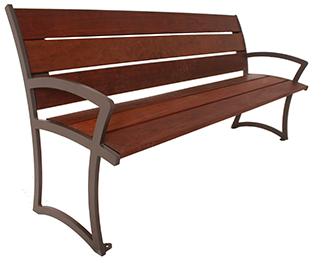 M Series IPE Wood Bench