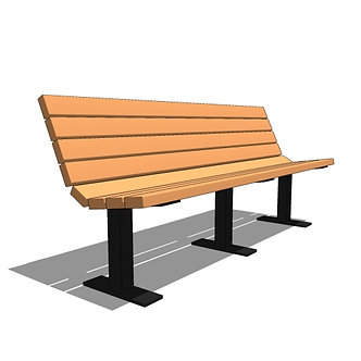 6' Contour Recycled Plastic Bench