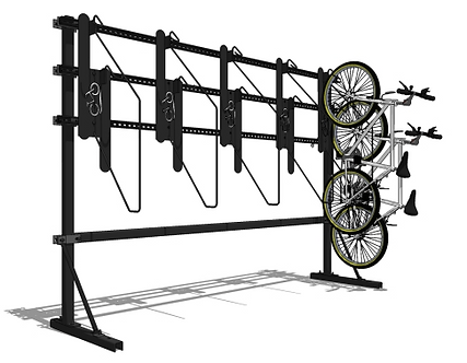 K21™ Single Sided Free Standing Vertical Bike Rack