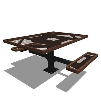 46 Square Pedestal Table - 2 Seat