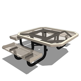 46 Rolled Edges Children's Octagon Portable Table - 3 Seat