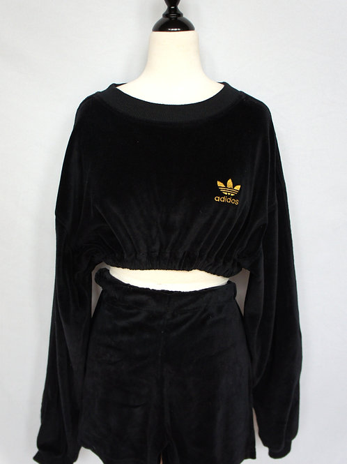 Upcycled Adidas Velour Two Piece Set