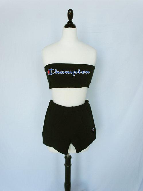 Upcycled Champion Short Set