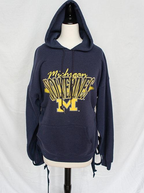 Upcycled University of Michigan Hoodie Dress