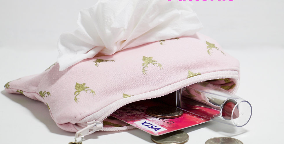 zipper pouch with tissue holder PDF pattern