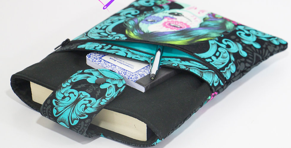 Book sleeve with 2 pockets in 2 sizes