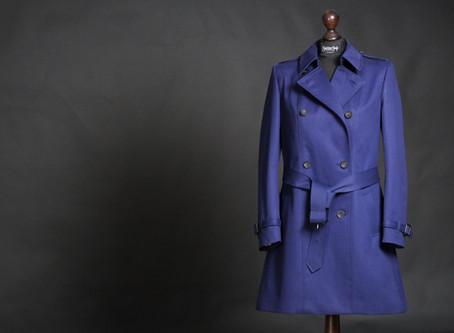 Blauer Damen Trenchcoat