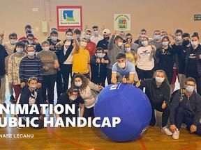 Au gymnase Lecanu, séances de gymnastique adaptés !