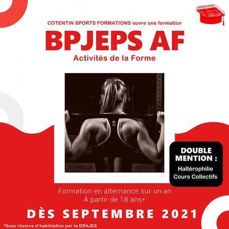 Ouverture de la formation BPJEPS AF !