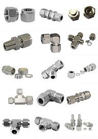 Stainless Steel Comporession, ferrules, nuts, NPT, BSPT Fittings