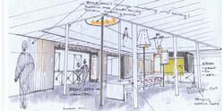 Schets atrium Hoogeland