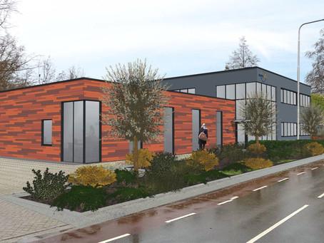 Nieuwe gevel kantoorgebouw