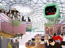 universiteit gebouw onder 1 dak