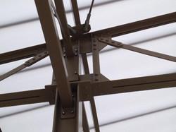 Detail staalconstructie