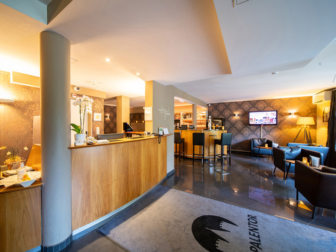 Hotel Spalentor Basel 005 Hotelbar und Empfang hotel bar and lobby bar et réception de l'h
