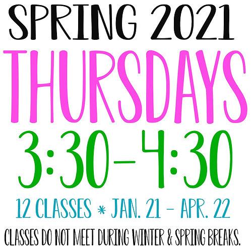 Spring 2021 Thursday 3:30-4:30 Garage Studio