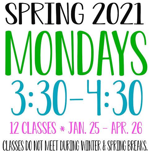 Spring 2021 Monday 3:30-4:30 Garage Studio