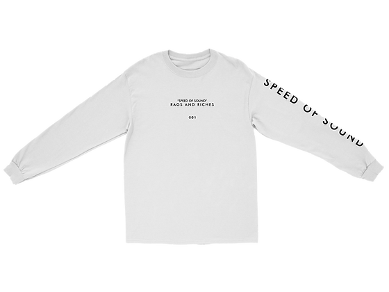 SPEED OF SOUND LYRIC LONGSLEEVE (WHITE)