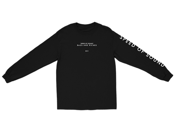 SPEED OF SOUND LYRIC LONGSLEEVE (BLACK)